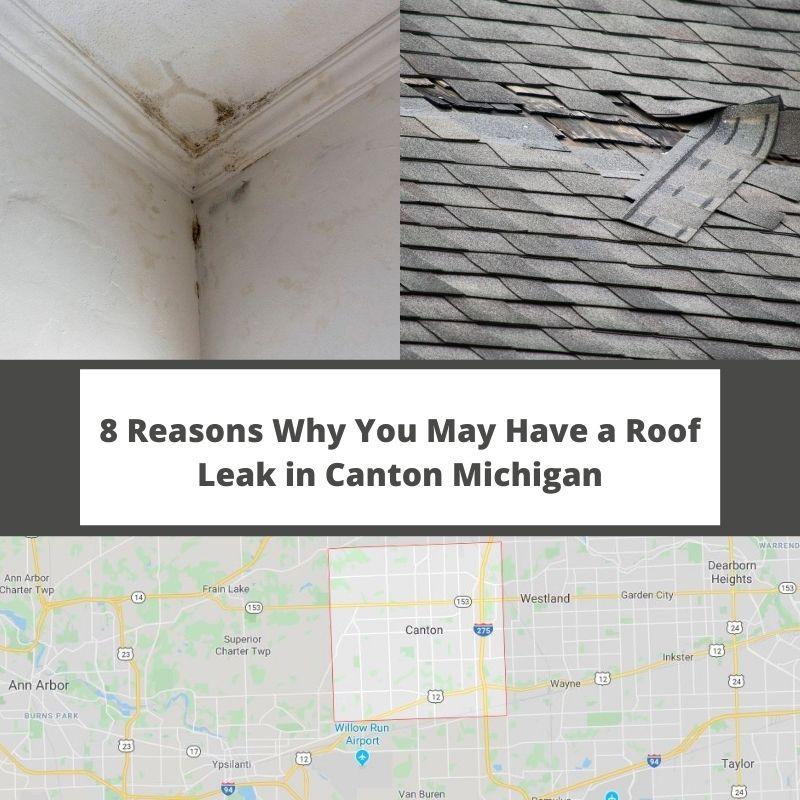 Canton MI Roof Leak