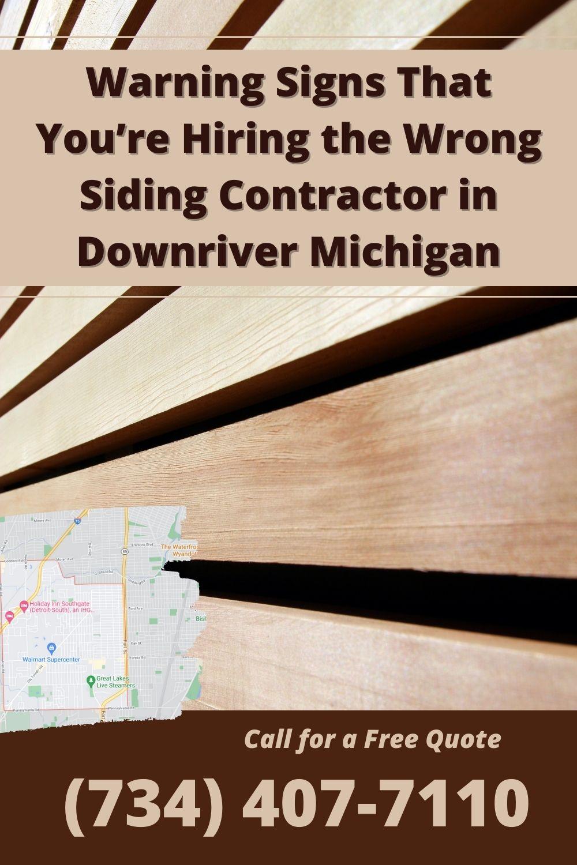 Siding Contractor Downriver MI